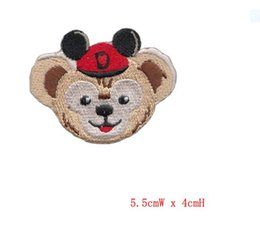 $enCountryForm.capitalKeyWord Canada - 10pcs lot Kid Cartoon Mix Animal Bears Embroidery Iron On Patches Clothes Appliques Sew On Motif Badge For DIY Clothing Bag