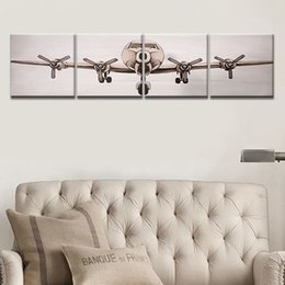$enCountryForm.capitalKeyWord NZ - 4 Panel Modern Printed Canvas Painting Aircraft Wall Picture Art For Living Room Unframed HD Picture Home Decoration Room Arts
