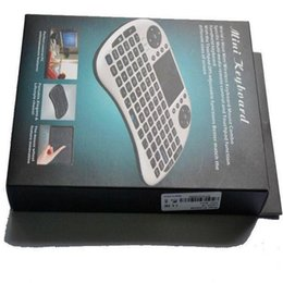 wireless keyboards for pc NZ - Hot mini keyboard Rii Mini i8 Wireless Keyboard with Engilsh Touchpad for PC Pad Google Andriod TV Box Free Epacket