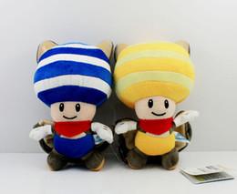 """$enCountryForm.capitalKeyWord Canada - ArielBaby New Blue Yellow Super Mario Bros Bat Toad Kinopio Soft Plush Stuffed Doll Toy Approx 8"""" 20cm"""