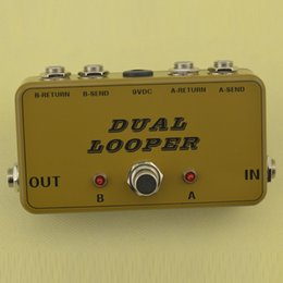 Switch looper online shopping - New True Bypass Looper Effect Pedal Guitar Effect Pedal Looper Switcher true bypass guitar pedal Army Green dual Loop switch IN STOCK