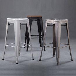 customized industrial retro simple casual bar metal bar stool high chair simple fashion wrought iron metal bar stool - Wrought Iron Bar Stools