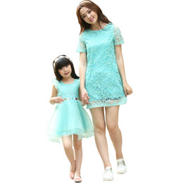 Chinese  Wholesale-2015 New Arrival Mother Daughter Matching Clothes Dresses Mommy And Me Clothes Family Clothing Sets Family Outfits Sundress manufacturers