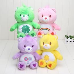 Discount toy care bears - EMS Wholesale 30cm care bears Plush toy Stuffed doll Teddy Bear plush toys colorful bears for kids toys gift