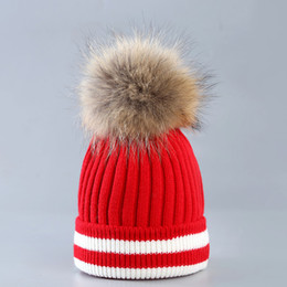 a7734ad8ace Red white stRipe hat online shopping - Hot Sales bursts Warm Winter hat  Creative spell color