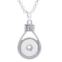 necklaces pendants Australia - Ginger Snap Button Pendants with Crystal Diamond Jewelry 18mm NOOSA Interchangeable Necklaces DIY Accessory Jewerly for Women Christmas Gift