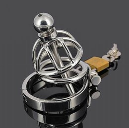 $enCountryForm.capitalKeyWord NZ - Metal chastity cage Super Small Male stainless steel Cock Cage with Urethral catheter Chastity Device Cock ring BDSM Sex toy 922S