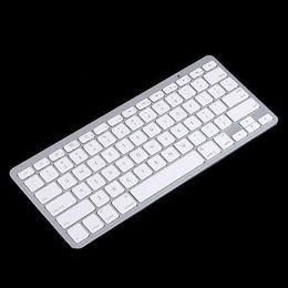 2015 Bianco Slim Wireless tastiera Bluetooth per iPad iPhone iPod Touch tastiera PS3 per Android / Telefono / PC / Tablet PC Spedizione gratuita in Offerta
