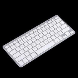 2015 blanc mince clavier sans fil Bluetooth pour ipad iphone ipod touch clavier PS3 pour Android / téléphone / pc / tablet pc livraison gratuite