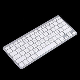 Wholesale 2015 White Slim Wireless Bluetooth Keyboard for iPad iPhone iPod Touch PS3 Keyboard for Android Phone PC Tablet PC Free Shipping