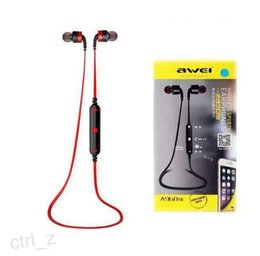 $enCountryForm.capitalKeyWord Canada - 2016 Awei A960BL Stereo Music Wireless Bluetooth Earphone Sports In-Ear Headphone Handfree with Mic for iPhone Samsung Cell Phones iPod Mp4