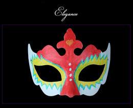 Blank Face Masks Wholesale NZ - 500pcs Best DIY Mask Hand Painted Halloween White Face Mask Zorro Crown Butterfly Blank Paper Mask Masquerade Party Cosplay Masks