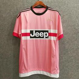 ab59d021c65     Wholesale 15 16 retro JuvenTUS soccer jerseys pink Serie A champions  thai quality custom PIRLO DYBALA 21 football shirts Coppa Italia