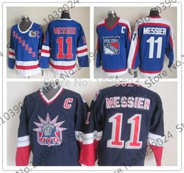 Jersey Alternate Canada - 30 Teams-Wholesale 11 Mark Messier New York Rangers 1977 CCM Vintage Jersey 1996-97 Alternate lady liberty CCM,75th anniversary ccm Jersey