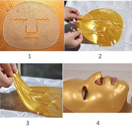 crystal collagen gold powder face mask NZ - Gold Bio-Collagen Facial Mask Face Mask Crystal Gold Powder Collagen Moisturizing Anti-Aging Crystal Collagen Gold Powder Facial Mask DHL