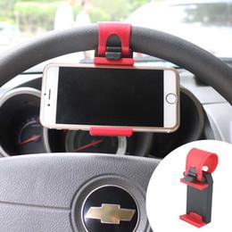 Universal Ständer Auto Stying Lenkrad Handy Halter Clip Clamp Zange für Apple iPhone 5 5 s 6 6 s 7 8 Plus GPS MP4