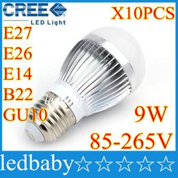 BuBBle Ball BulB lamp online shopping - High power CREE W Led globe bulb E27 E14 B22 GU10 V LED Light bubble Ball Lamps spot light