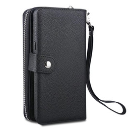 China For Samsung Galaxy Note8 S8 S8 plus S6 edge S7 edge S5 Zipper Wallet Leather Cell Phone Case Purse With Magnetic Detachable Cover 50pcs lot suppliers