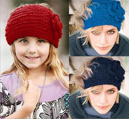 $enCountryForm.capitalKeyWord Canada - 24 colors for choose new knitting wool Woolen Crochet hair band winter warm camellia Flower women girl children Headbands headwear