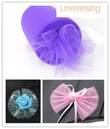 "purple cake stand NZ - Please Contact US--New Arrivals-4 Rolls 6""x100y Purple Color Tulle Rolls Spool Tutu DIY Craft Wedding Banquet Fabric Wedding Car Decor"