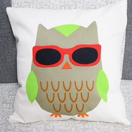 discount home goods pillows funny owl facial expression kawaii bedding set pillow cover good quality home