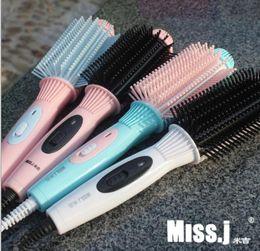 Straightening Iron Curls Canada - 2017 Iron Hair Straightener Iron Brush Ceramic 2 In 1 Hair Straightening Irons Curling Hair Curler b598