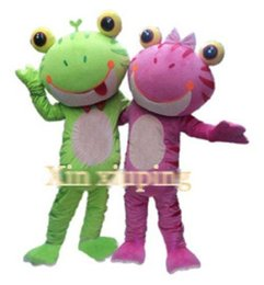 Costumes De Costumes De Couple Pas Cher-Hot Adult Frog Couple Models Mascot Costume Fancy Party Dress Livraison gratuite