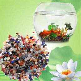 Crystal Chips Canada - 50g Colorful Irregular Tumbled Stones Gravel Crystal Healing Reiki Rock Gem Beads Chip for Fish Tank Aquarium Decor