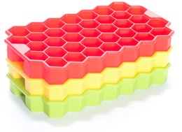 Silicone Blocks Canada - Silicone Ice Cube Tray Mold Hex Geometric Chocolate Cake Jelly Mold Tray Brick Block Honeycomb For Party Home Beehive