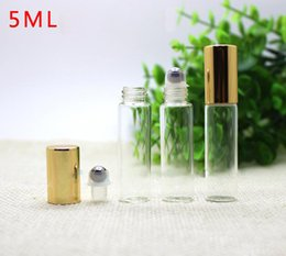 $enCountryForm.capitalKeyWord Australia - Hot Selling 5ml Empty Clear Glass Roll on Bottles With Stainless Steel Roller Ball & Cap For essential oil aromatherapy perfume