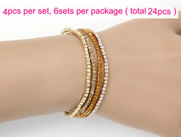 $enCountryForm.capitalKeyWord NZ - New Arrival MIC 4Colors Colorful Spring 1-Row 2-Row Rhinestone Crystal Bracelets Tennis hot sell Jewelry Fashion
