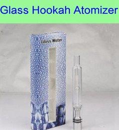 Venta al por mayor de Pyrex Glass Water Atomizer - DHL Más nuevo Hookah Pen Pipas de fumar ecig Tanque Hierba seca Vaporizador Vaporizador de vidrio Atomizador para batería EGO Evod