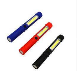 $enCountryForm.capitalKeyWord Australia - LED Flashlight COB Mini Pen Multifunction LED Torch Light cob Handle work flashlight Work Hand Flashlight With the Bottom Magnet