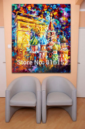 Russian Paintings NZ - Modern Palette Knife Oil Painting Triumphal Arch Russian Architecture Picture Printed On Canvas For Home Office Wall Art Decor