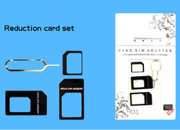 $enCountryForm.capitalKeyWord NZ - 4 In 1 Nano Micro SIM Adapter Eject Pin For Iphone 5  4  4S With SIM Card have Retail Box High Quality