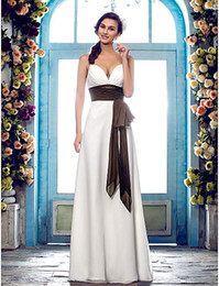$enCountryForm.capitalKeyWord Australia - 2016 New Fashion Popular Free Shipping Ivory Floor-length Spaghetti Straps Chiffon Sash Outdoor Sheath Wedding Dresses 202