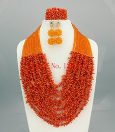 $enCountryForm.capitalKeyWord Canada - Hot Nigerian Wedding African Coral Beads Jewelry Set Coral Beads Necklace Jewelry Set Free Shipping HD101-2