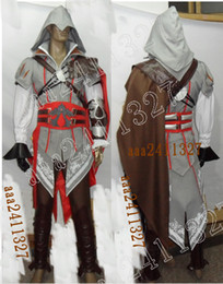 ingrosso anime assassin creed-Creed Costume II EZIO anime cosplay di Assassin NUOVO