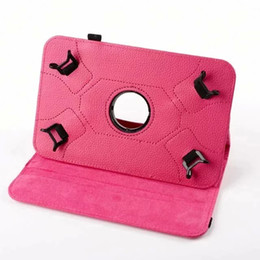 $enCountryForm.capitalKeyWord Canada - Universal For 7.0 8.0 9.0 10.0 inch PC tablet Litchi 360 Rotating Leather Wallet Case Pouch Bag Colorful Rotary Stand Skin Cover 100pcs