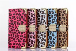 $enCountryForm.capitalKeyWord Canada - For LG G4 Cases Electroplating Leopard Grain Design Diamond Magnet Buckle Wallet Card Slot Stand Holster Case For LG G4 Cases