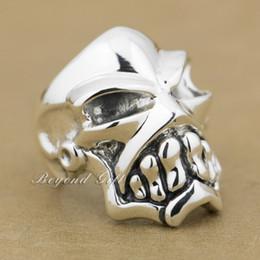 $enCountryForm.capitalKeyWord Canada - 925 Sterling Silver Huge & Heavy Skull Mens Biker Rocker Ring 9Q010 US Size 8~14 Free Shipping