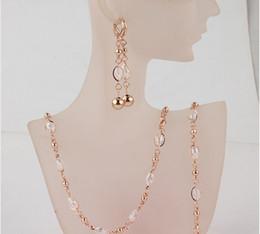 $enCountryForm.capitalKeyWord Canada - Free Shipping Fashion Women's 18k Gold Filled Clear Austrian Crystal Necklace Bracelet Earrings Wedding Bride Jewelry Sets Gift