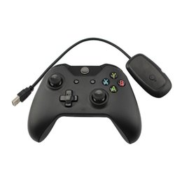 Discount xbox wireless receiver for pc - New Black 2.4GHz Wireless Game Controller Joystick Joypad Gamepad with Controller Receiver For Xbox One for Microsoft PC