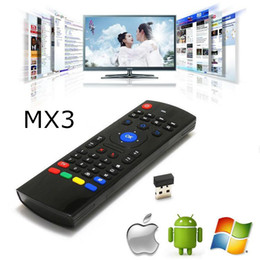 $enCountryForm.capitalKeyWord Canada - MX3 Keyboard 2.4Ghz Wireless Mini Keyboard Fly Air Mouse IR Learning Remote Controller For Android TV Box MX3 MX MXQ M8 X8 Plus Free Ship