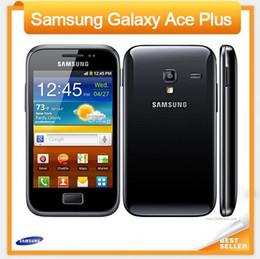 Venta al por mayor de 100% original Samsung Galaxy Ace Plus S7500 teléfono celular WIFI GPS GSM WCDMA 5MP Cámara 3.65 '' Toque desbloqueado restaurado teléfono