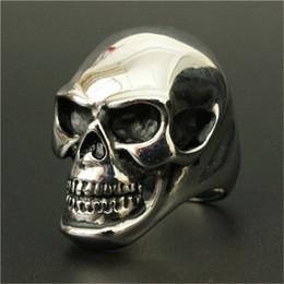 Men Size 15 Rings Australia - Size 8-15 Band Party Huge Polishing Skull Ring 316L Stainless Steel Cool Fashion Men Silver Biker Skull Ring