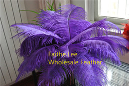 $enCountryForm.capitalKeyWord Canada - Wholesale-FREE SHIPPING 100pcs lot 12-14inch purple Ostrich Feathers plume for wedding centerpieces christmas decor Wedding Decorations