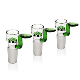 Chinese  Reanice green snowflake glass water bongs bowl dab oil rigs handmade bong head clear water cheap pipes 14mm 18mm glass filters for bongs manufacturers