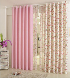 free shipping curtains for kids children girl cartoon sheer floral curtains for bedroom princess ecofriendly cheap curtains for children