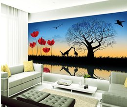 $enCountryForm.capitalKeyWord NZ - Papel de parede Fashion silhouette TV backdrop mural wall sticker new large wallpaper wall paper costomize size 898128